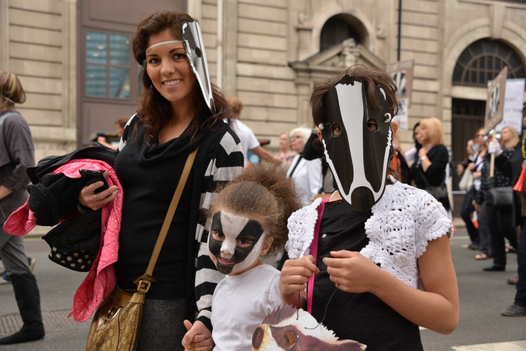 Familis against the badger cull copyright Gordon McGlone PhotoNatura
